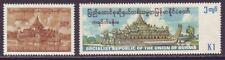 Burma 1977 SC 266-267 MNH Set Karaweik Pagoda