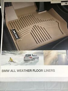 BMW F30 3 Series Front And Rear xDrive Sedan All-Weather Floor Liners Mats Black