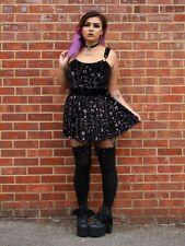 Collectif Mainline Rochelle Spooky Velvet Skater Dress Size 20 (3XL)