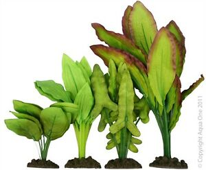 Aqua One A1-24245 Silk Plant 4pk Mix 5 For Freshwater Aquarium & Terrarium