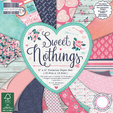 "First Edition 'Sweet Nothings' 6"" x 6"" Premium Papers 16 SHEETS"