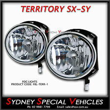 FOG LIGHTS FOR FORD TERRITORY SX SY FRONT BARS 2004 to 3/2009 DRIVING SPOT LAMPS