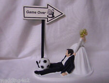 Wedding Party Fun Reception ~Soccer Ball~  Game Over Sign Sports Cake Topper