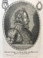 Henri II (1519-1559) Roi de France Balthazar MONTCORNET XVIIe France