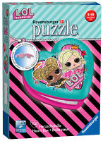 11164 Ravensburger LOL Surprise Heart Shaped 3D Jigsaw Puzzle 54 Piece Age 8+