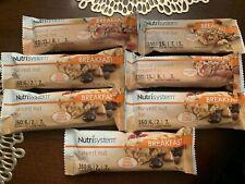 NUTRISYSTEM Breakfast Nut Bar Lot Of 7 Bars New Fresh exp 2021