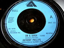 "Anthony Phillips-UM & AARGH 7"" vinyle"
