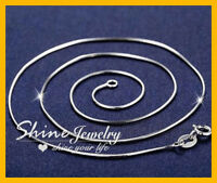 """925 STERLING SILVER FILLED 1MM THIN SNAKE CHAIN NECKLACE MEN LADY 16""""-24"""" INCHES"""
