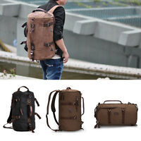New Men's Vintage Canvas Backpack Rucksack Laptop Shoulder Travel Hiking Bag Hot