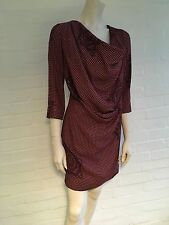 VIVIENNE WESTWOOD RED LABEL COWL NECK MIDI CHECKED DRESS SIZE 40