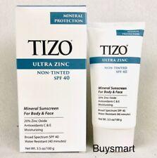 Tizo Fusion Non Tinted Ultra Zinc Body Face Sunscreen Protection SPF 40 3.5oz