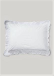 "Ralph Lauren White eyelet lace Crestwood Throw Pillow 15"" X 20"" retail $185"