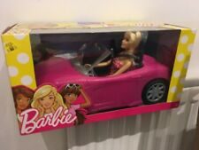 BARBIE PINK CAR WITH BARBIE DOLL