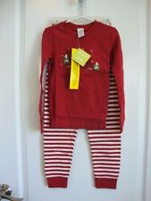 GYMBOREE Red Gingerbread Man & Sled Holiday Gymmies Pjs Pajamas Boy Girl Size 6