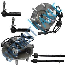 NEW Front Driver and Passenger Wheel Hub and Bearing 4WD w/ ABS + 4 Tie Rod