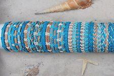 30 PIECES MIX BLUE LEATHER SURF FRIENDSHIP BRACELETS WRISTBAND WHOLESALE / b057