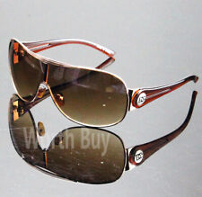 New WB Mens Designer Shield Wrap Around Sunglasses Fashion Shades Retro One Lens