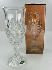 """HURRICANE """"SHANNON FINE CRYSTAL"""" CLEAR CANDLE HOLDER APPROX 11-1/2"""" TALL 2 PIECE"""