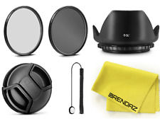 52mm Kit- UV CPL Filter, Lens Hood, Cap, Cap Keeper, Cloth f/ Nikon 18-55mm Lens