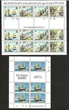 Tuvalu 114 - 117 - Bicentennial Of Captain James Cook.  MNH.+others mint & used