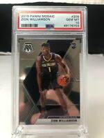 2019-20 Panini Mosaic Zion Williamson RC Rookie #209 PSA 10 GEM (MW)