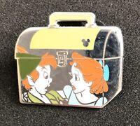 Peter & Wendy School Lunch Box Hidden Mickey Disney Pin Peter Pan Excellent Cond