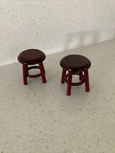 Two Dolls House Wooden Stools