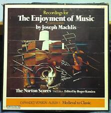 JOSEPH MACHLIS the norton scores enjoyment of music 4th ed 6 LP VG+ P6 13586