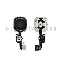 """iPhone 6 4.7"""" & 6 Plus 5.5 Black Touch ID Sensor Home Button with Key Flex Cable"""