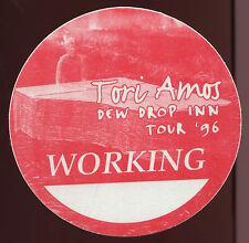 TORI AMOS 1996 Dew Drop Inn Concert Tour Backstage Pass Authentic stage OTTO #2
