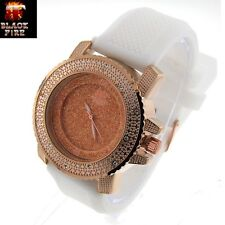 "LADIES ""BLACK FIRE WATCH"" DESIGNER STYLE ICE NATION WATCHES BRAND NEW STYLE #109"