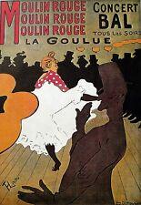 Art Poster Moulin Rouge Concert Bal Lautrec Dance Print