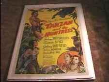 TARZAN & HUNTRESS MOVIE POSTER '47 JOHNNY WEISSMULLER