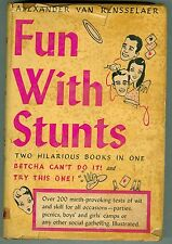 Fun With Stunts by Alexander Van Rensselear 1945 VG