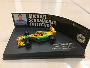 MINICHAMPS 1/87 MICHAEL SCHUMACHER, BENETTON FORD B193 1993 F1 CAR, 510938705