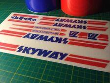 SKYWAY Ta-Adhesivo Set-vieja escuela BMX-Calcomanías-Raleigh Quemador/Styler/Mag 20