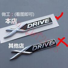 Auto Chrome Metal X-Drive Rear Emblem Badge Sticker For BMW XDrive TRUNK FENDER