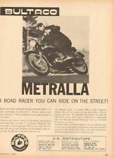 1965 Bultaco Metralla Road Racer Vintage Motorcycle Ad