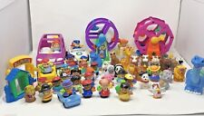 Fisher Price Little People Lot 49 Figures 3 Ferris Wheels 5 Cars + Accessories