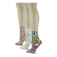 Sox Trot  Ankle Socks Puchies Anklets 3 Pack Anklets