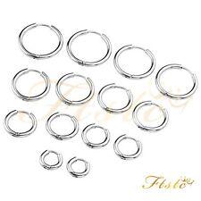 Men's Women's Stainless Steel Tube Ear Studs Hoop Huggie Punk Earrings Jewelry
