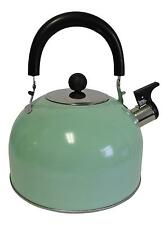 Stainless Steel Whistling Kettle Hot Water Tea Stovetop Light Green (B Stock)