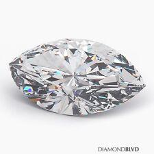 1.43 Carat H/SI2/Ex Cut Marquise Shape AGI Earth Mined Diamond 10.93x5.72x3.83mm