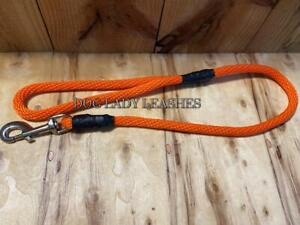 """TRAFFIC/SHORT SNAP LEASH-UP TO 65 LBS-3/8"""" X 30"""" LONG ORANGE ROPE-NEW- (550)"""