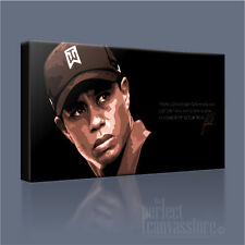 Tiger Woods en curso XL Lona Arte icónico Arte Williams