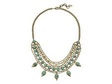 """Lucky Brand Goldtone Turquoise Layered Necklace 18"""" with 3"""" extender"""