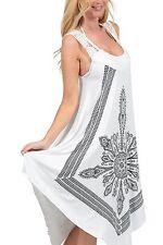 Crochet Casual Dress Embroidery Summer Beach Handkerchief Dress ICT311