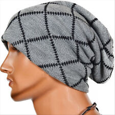 Mens Womens Knitted Wooly Winter Slouch Beanie Hat Skateboard Ski Cap Oversized