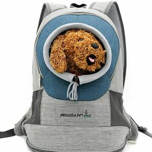 Dog Backpack Carrier Pet Front Chest Mesh Bag Travel Puppy Breathable Adjustable