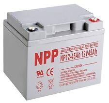 NPP 12V 45 Amp 40Ah 45Ah 50Ah AGM UPS Backup Battery replace Power Sonic PS12400